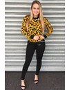 YELLOW - 'LOUISE' - LEOPARD KNITTED SWEATER