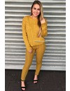 OCHER - 'CAMILA' - ROUND NECK CABLE KNIT LOUNGE SET