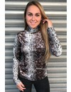 BROWN SNAKE - 'PAIGE' - EXCLUSIVE VELVET COL TOP