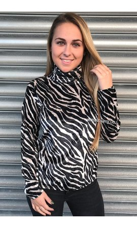 ZEBRA - 'PAIGE' - EXCLUSIVE VELVET COL TOP