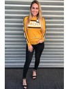 MUSTARD - AMOUR STRIPED SWEATER