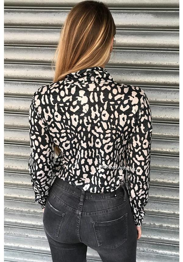 WHITE - 'ROXY' - GLITTERLY LEOPARD COL