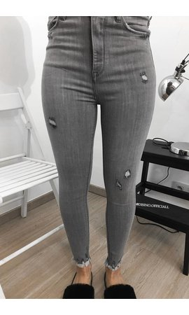 QUEEN HEARTS JEANS - GREY - SKINNY EXTREME HIGH WAIST