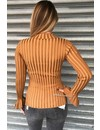 OCHER - 'MADDY' - RIBBED BELL SLEEVE TOP