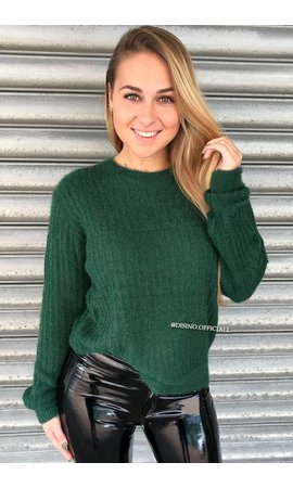 GREEN - 'FIFI' - FLUFFY OVERSIZED SWEATER