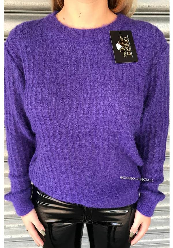 PURPLE - 'FIFI' - FLUFFY OVERSIZED SWEATER