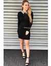 BLACK - 'VALERIE' - DIAMOND COLLAR DRESS