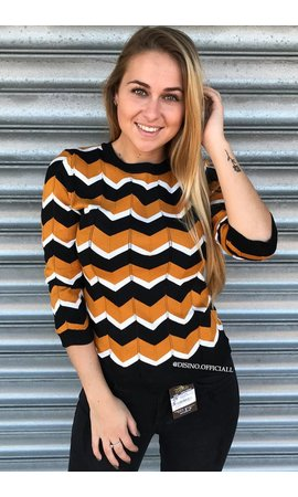 OCHER - 'ESTELLE' - PREMIUM INSPIRED STRIPED TOP