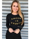 OCHER - 'AMOUR IS FRENCH' GLITTERLY TOP