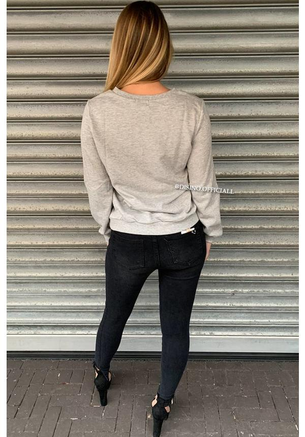 GREY - 'MADEMOISELLE PERFECT' SWEATER