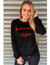 BLACK/RED - 'MADEMOISELLE PERFECT' SWEATER