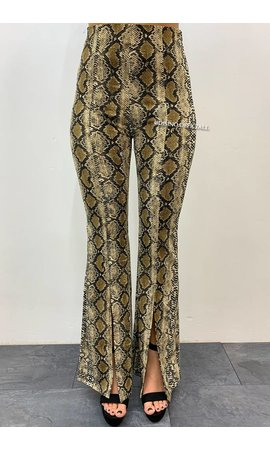 SNAKE - 'YARA' - HIGH WAIST SPLITTED FLARED PANTS