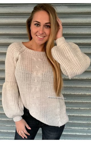 SAND - 'SOPHIA' - KNITTED COTTON FEEL SWEATER POFMOUW