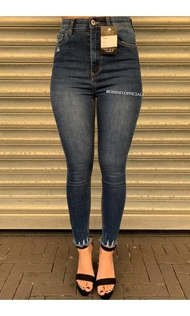 QUEEN HEARTS JEANS - MEDIUM BLUE - PERFECT SUPER HIGH WAIST - 9171