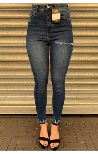 QUEEN HEARTS JEANS - MEDIUM BLUE - PERFECT HIGH WAIST - 9171