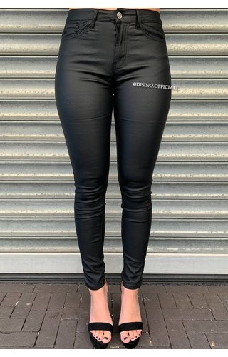 BLACK - WAX LOOK PERFECTLY SKINNY JEANS