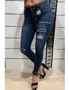 QUEEN HEARTS JEANS - MEDIUM BLUE - SKINNY PAILLET DETAILS - 9531