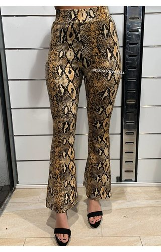 SNAKE - 'LILLY' - COMFY SNAKE FLARED PANTS