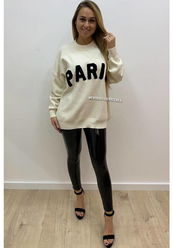 BEIGE - 'PARIS' - PREMIUM QUALITY OVERSIZED SWEATER