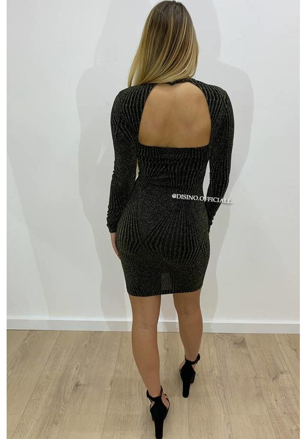 GOLD - 'FELICE' - OPEN BACK SPARKLE DRESS