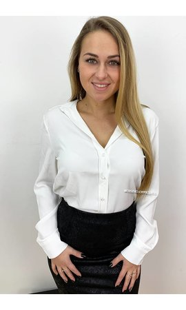 WHITE - 'ALLYSON' - PREMIUM QUALITY BASIC BLOUSE