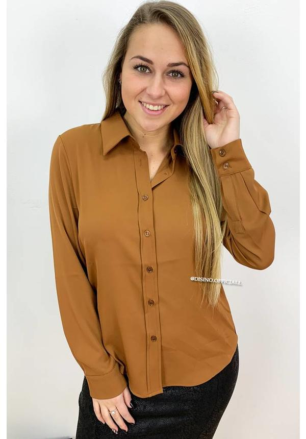 BROWN - 'ALLYSON' - PREMIUM QUALITY BASIC BLOUSE