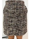 BROWN - 'TWEETY' - GLITTERLY TWEED SKIRT WITH POCKETS