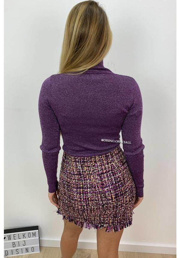 GLITTERLY PURPLE - 'SOOF' - SOFT TOUCH COL TOP