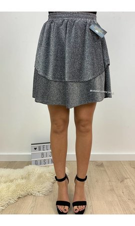 GLITTERLY SILVER - 'VANESSA' - LAYERED RUFFLE SKIRT