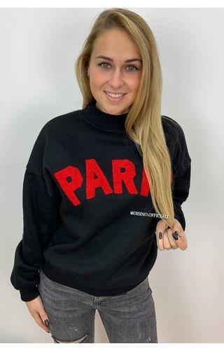 BLACK - 'PARISA' - PARIS SWEATER ROUND NECK