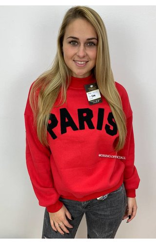 RED - 'PARISA' - PARIS SWEATER ROUND NECK