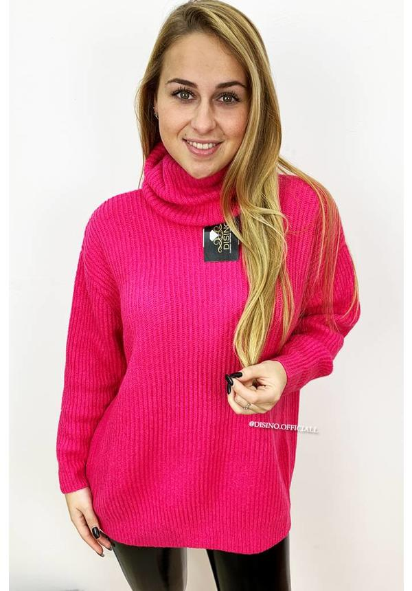 FUCHSIA - 'ESMEE' - SUPER QUALITY KNITTED SWEATER