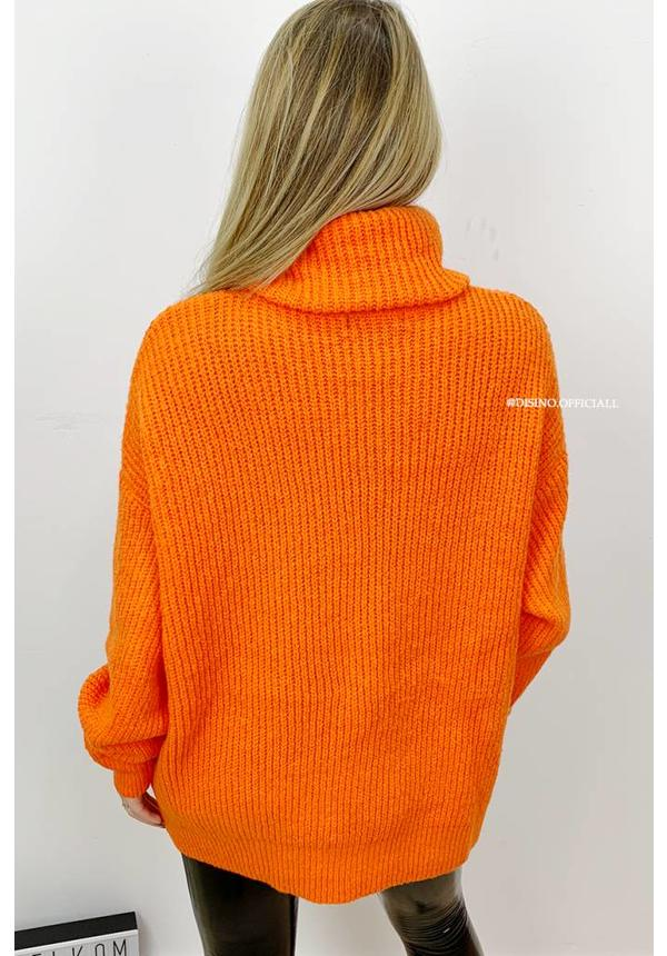 ORANGE - 'ESMEE' - SUPER QUALITY KNITTED SWEATER