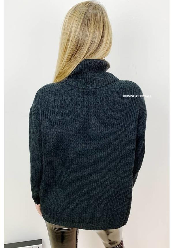 BLACK - 'ESMEE' - SUPER QUALITY KNITTED SWEATER