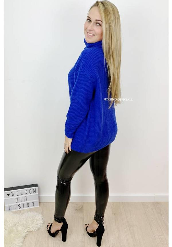 ROYAL BLUE - 'ESMEE' - SUPER QUALITY KNITTED SWEATER