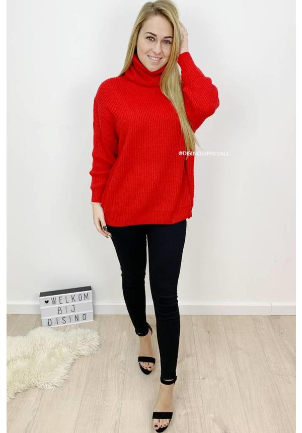 RED - 'ESMEE' - SUPER QUALITY KNITTED SWEATER