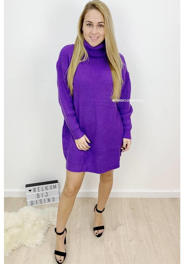 PURPLE - 'ESMEE 2.0' - LONG FIT SUPER QUALITY OVERSIZED KNITTED SWEATER