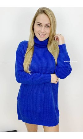ROYAL BLUE - 'ESMEE 2.0' - LONG FIT SUPER QUALITY OVERSIZED KNITTED SWEATER