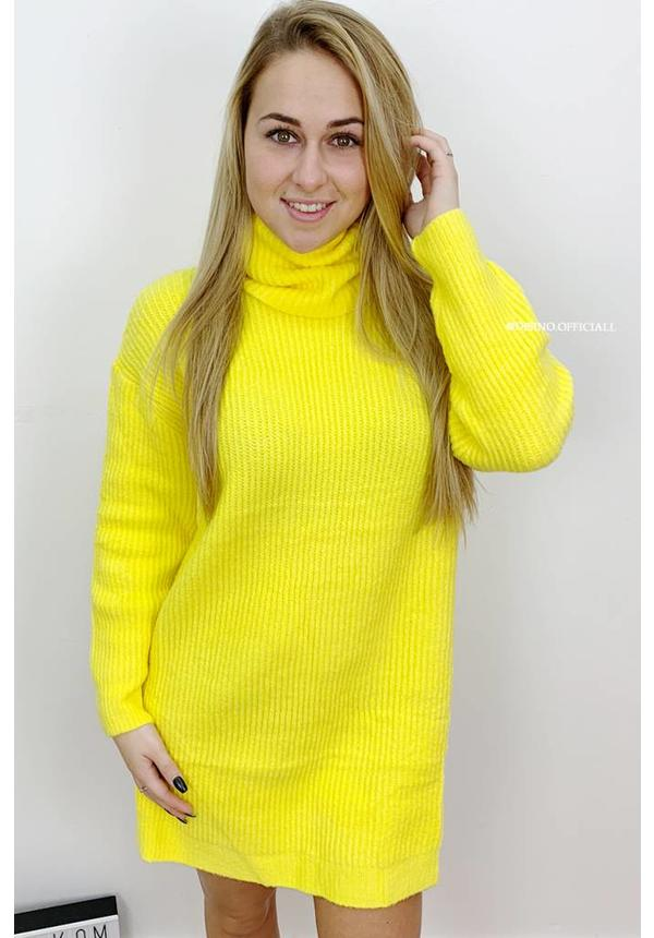 YELLOW - 'ESMEE 2.0' - LONG FIT SUPER QUALITY OVERSIZED KNITTED SWEATER