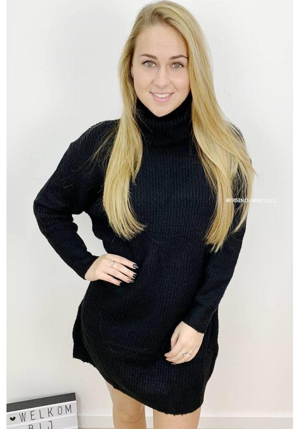 BLACK - 'ESMEE 2.0' - LONG FIT SUPER QUALITY OVERSIZED KNITTED SWEATER