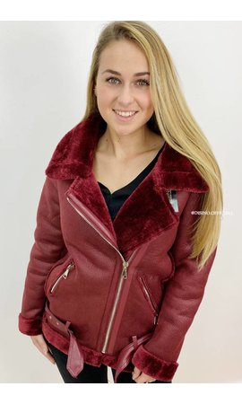 BURGUNDY - PREMIUM QUALITY LAMMY COAT