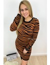 CAMEL - 'TORI' - PREMIUM QUALITY TIGER STRIPE DRESS