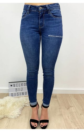 QUEEN HEARTS JEANS - MEDIUM BLUE - PERFECT SKINNY PUSH UP - 9045