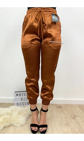 CAMEL - 'SHARONA' - LUXE SATIN LOOK JOGGER PANTS