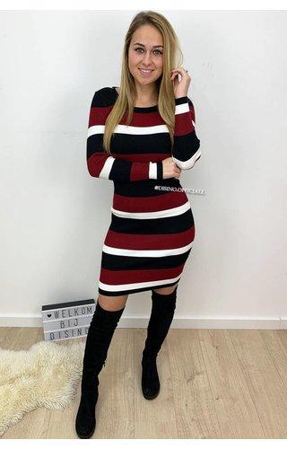 CHERRY - 'FENNA' - RIBBED STRIPED DRESS