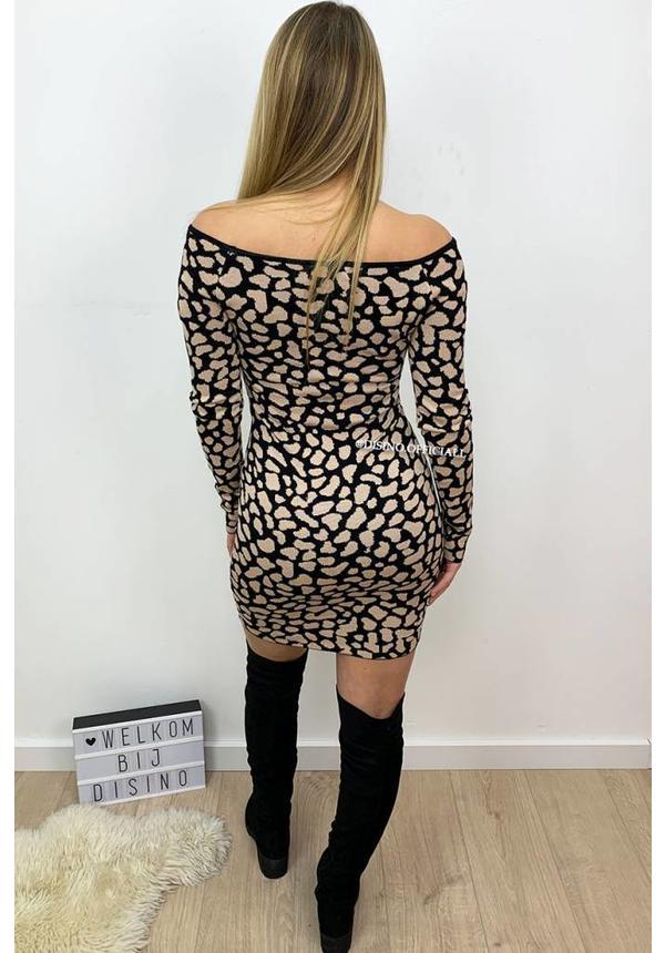 BEIGE - 'LORNA' - PREMIUM QUALITY OFF SHOULDER DRESS