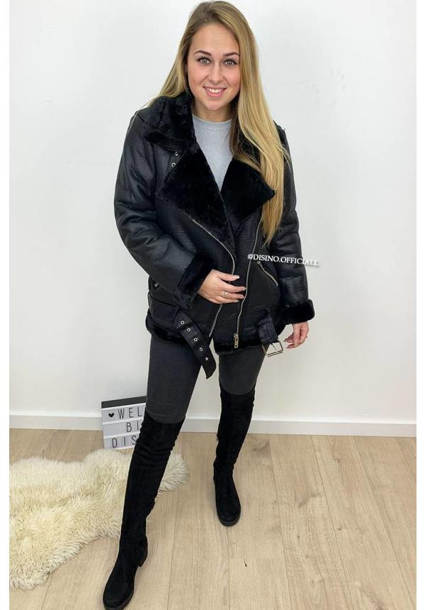 BLACK - PREMIUM QUALITY LAMMY COAT
