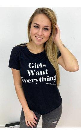 BLACK - GIRLS WANT EVERYTHING - BASIC TEE