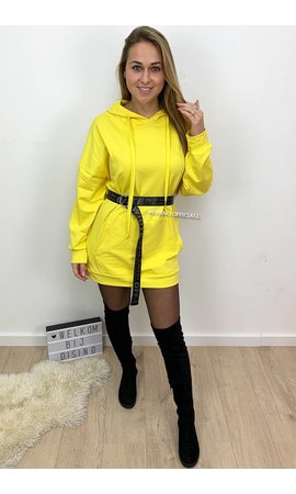 YELLOW - 'NIKKIE' - HOODIE DRESS