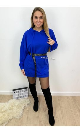 ROYAL BLUE - 'NIKKIE' - HOODIE DRESS